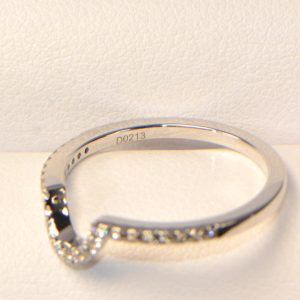 Vorsteckring Weissgold Diamantring