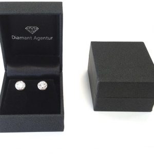 Diamant Ohrstecker Etui Schmuckschachtel Muster