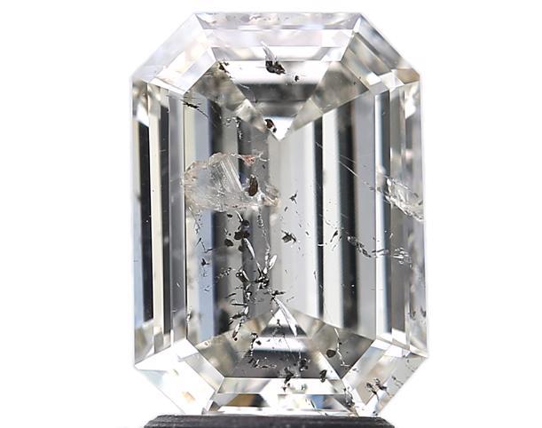 Diamant Reinheit Emerald Cut Smaragd Schliff pique