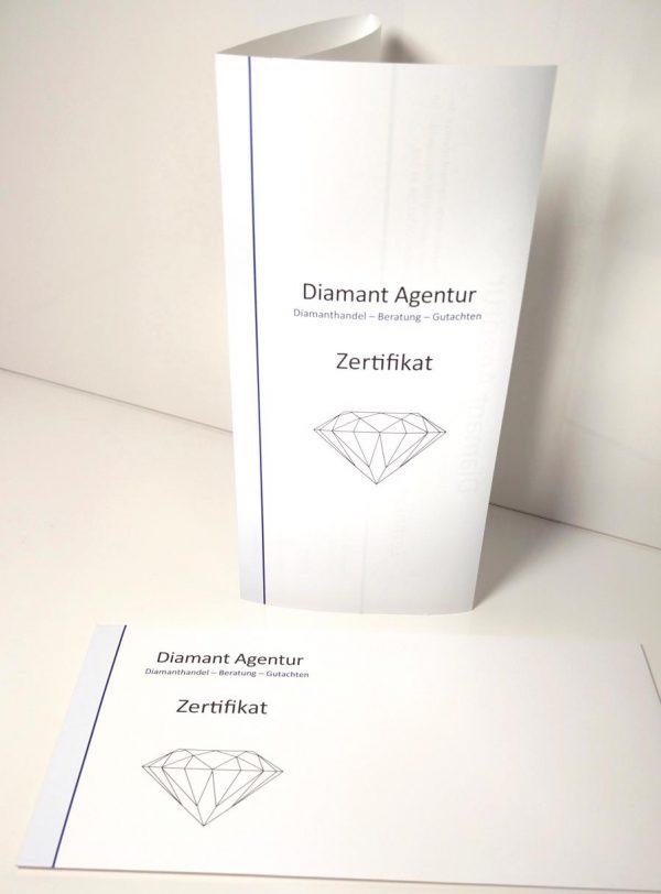Diamant Schmuck Zertifikat Expertise Gutachen Muster