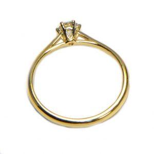 Diamantring Gelbgold 6 Krappen