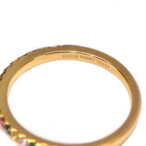 Farbsteine Ring in Gelbgold Saphir Rubin Smaragd